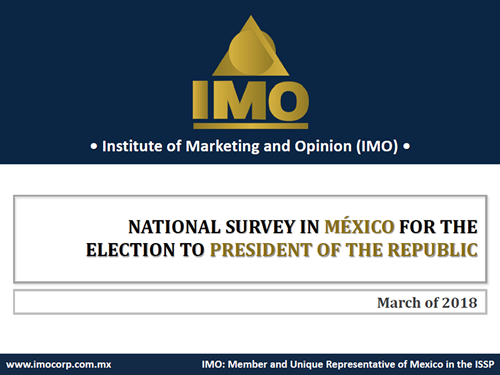 National Survey in Mexico for the Election to President of the Republic.